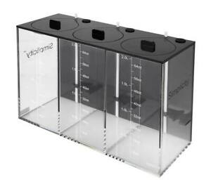 """Simplicity 3x2l Dosing Container -6l Total With Float Switches Elegant In Smell 11.8""""x4.8""""x7.8"""""""