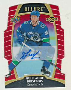 2019-20-Upper-Deck-Allure-RED-RAINBOW-AUTO-GUILLAUME-BRISEBOIS-RC-ROOKIE-91-349