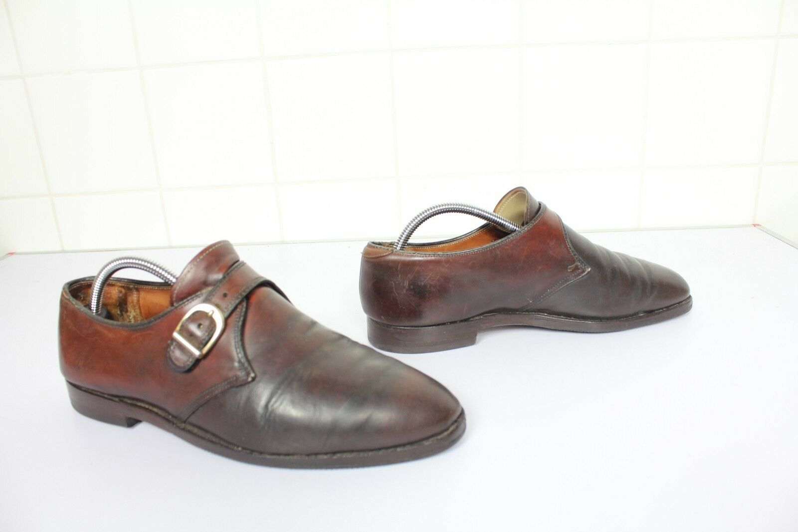 Alden Luxus Handmade Monk Herrenschuhe voll Echtleder Eu 42-Us 8 C made in USA