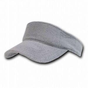 Details about Light Gray Terry Cloth Golf Tennis Plain Adjustable Sun Visor  Cap Caps Hat Hats d4035f6c0615