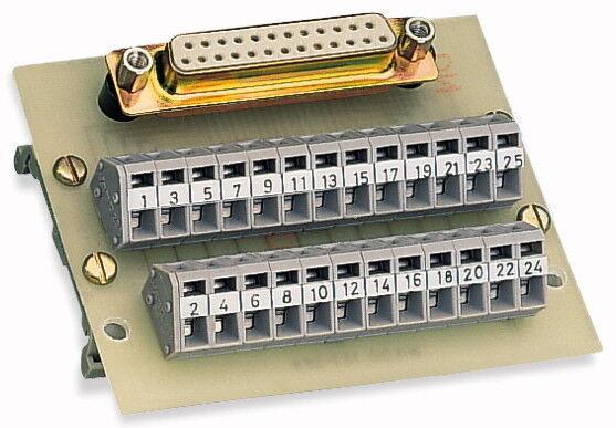 289-452 Wago Übergabebaustein D-SUB-Buchsenleiste Sub-Min-D-Stiftleiste 25-polig