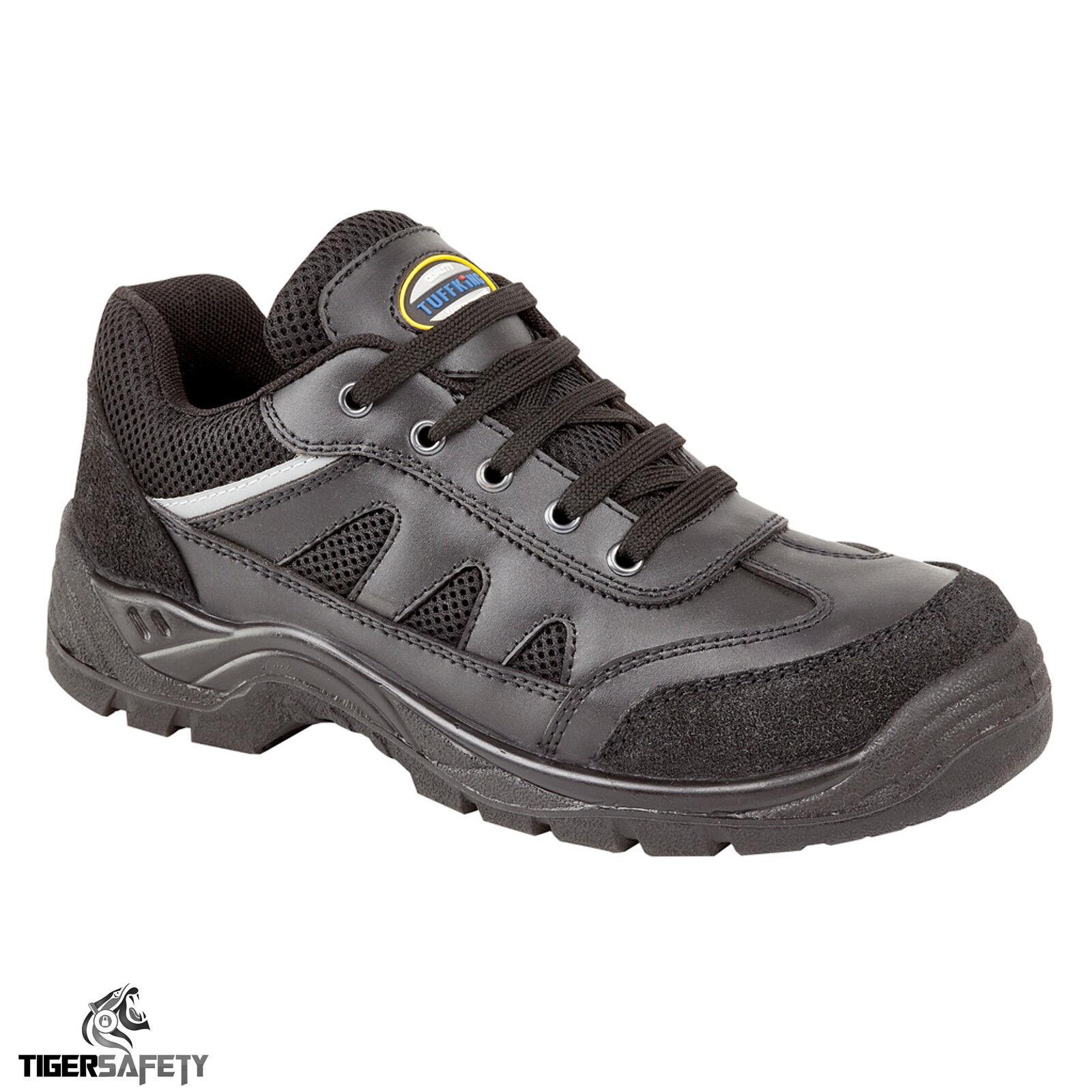 prezzo all'ingrosso Tuffking 9066 S1P Nera pelle Acciaio Punta di Sicurezza Scarpe Scarpe Scarpe da Lavoro Ppe  vendite online