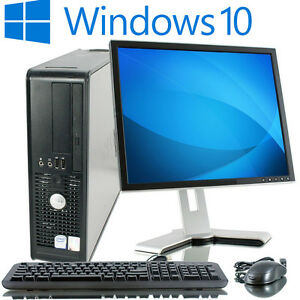 Details about FULL DELL/HP DUAL CORE DESKTOP TOWER PC & TFT COMPUTER WITH  WINDOWS 10 & & 6GB