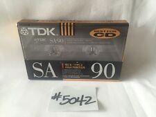 1 TDK SA- 90 sa90min Type II/2 High bias New Cassette Audio tape blank