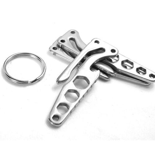 Mini Stainless Multi Tool EDC Pocket Bottle Opener Screwdriver Keychain OF