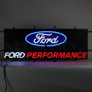 Neon Sign - Ford Performance Logo w/Backing * Let's RACE! Free US Ship *PRESALE*