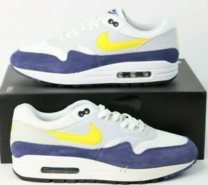 Details about NIKE AIR MAX 1 AH8145 105 WHITETOUR YELLOWBLUE RECALL SUEDELEATHER Size 9