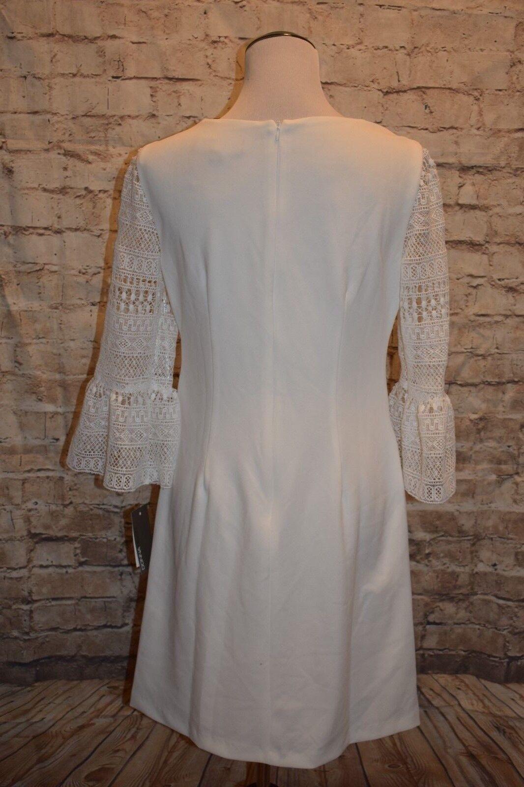 women Ricco Crochet Bell Sleeves Sleeves Sleeves Sheath Dress NWT Ivory 8   100 Macy's Modcloth ab8744