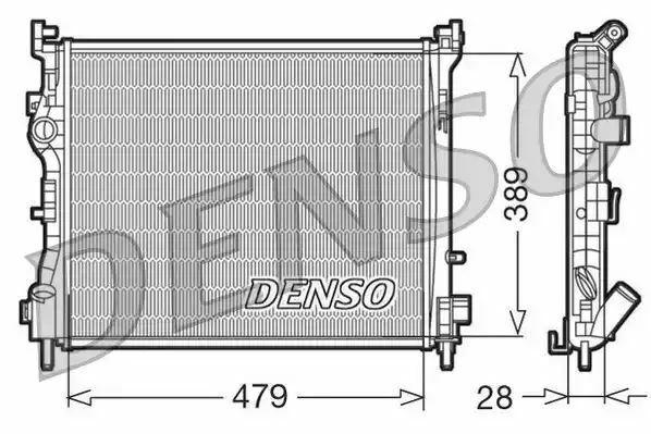 1x denso Radiador DRM23016 DRM23016