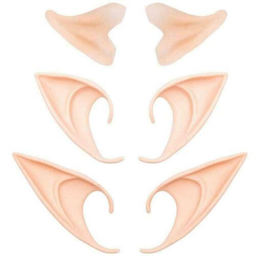 Latex Elf Ears Cosplay Wrap Fairy Goblin Ears Halloween HOT JI89 Costume US