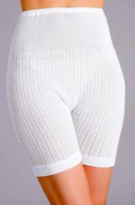 Image is loading Ladies-White-Thermal-Long-leg-Panties-Bloomers-Knickers- 4b40ebd762d4
