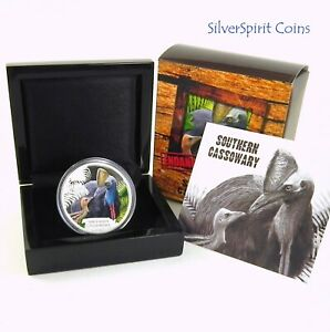2016-ENDANGERED-amp-EXTINCT-SOUTHERN-CASSOWARY-Silver-Proof-Coin