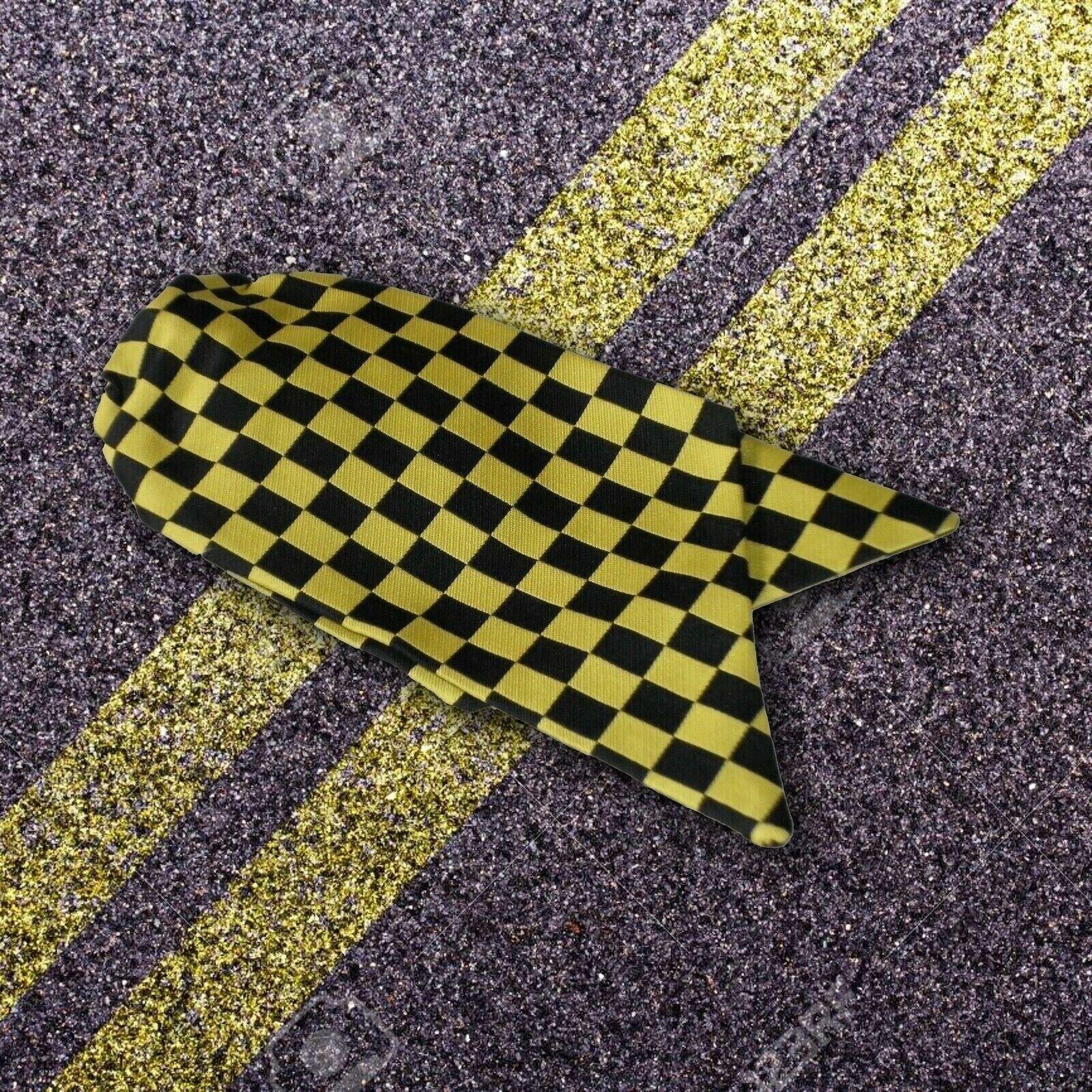 Genuine Ladies Traffic Warden Clip On Cravat Black and Yellow Check