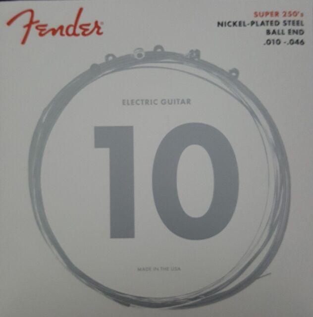 .046 Regular 3er Set Nickel-Plated Steel Saiten von Fender für E-Gitarre .010