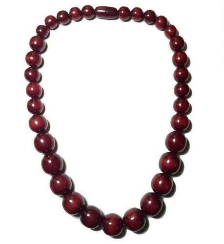 Tibetische Bernstein Halskette Banjara Tribal Harz Ethno Indien Vintage Perlen