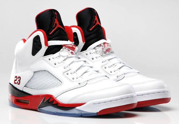 2013 Nike Air Jordan 5 V Retro Fire Red Black Tongue Size 12.5 136027-120 1 2 3