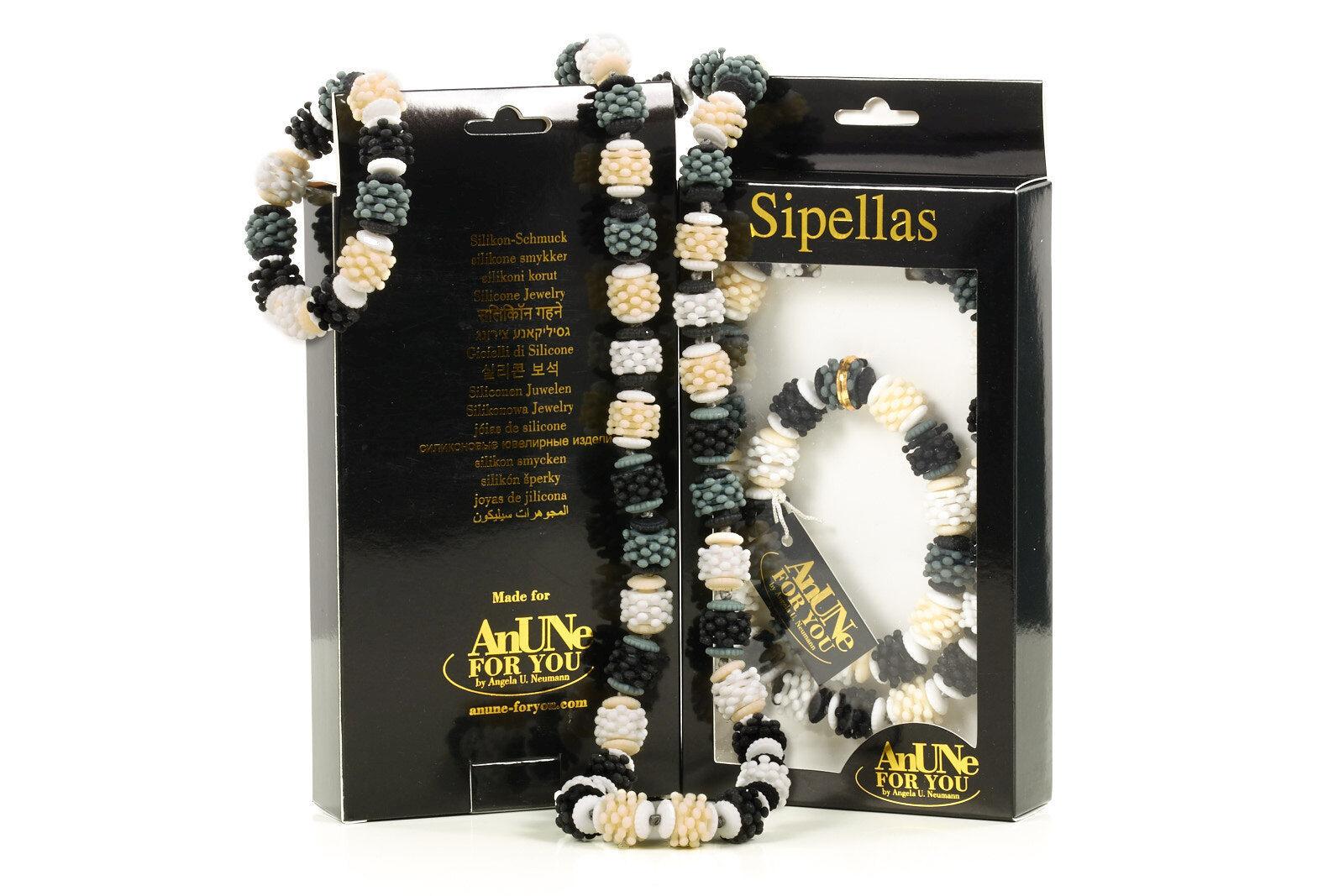 COLLANA COLLANA COLLANA + BRACCIALE nel set  anune-foryou  sipellas no 207 in silicone gioielli d2893c