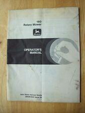 Original John Deere 160 Rotary Mower Operators Manual Om M72244 K6