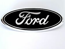 Black 2005-2014 Ford F-150 FRONT GRILLE / REAR TAILGATE 9 inch Oval Emblem Badge