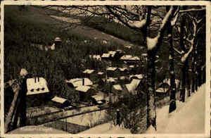Kipsdorf Erzgebirge alte Postkarte ~1930/40 Gesamtansicht im Winter Schnee Wald