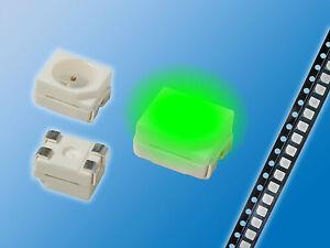 200x-SMD-LED-PLCC-4-3528-Gruen-Green-Gegurtet