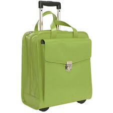 Jack Georges Milano Collection Vertical Laptop Wheeler GREEN 3854 GREEN