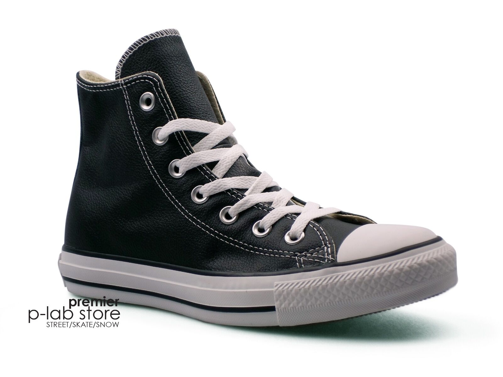 Converse Chuck Taylor All Star Unisex Leather High Top Black Unisex Star Trainers. New f93c91