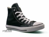 Converse Chuck Taylor All Star Leather High Top Black Unisex Trainers. Uk7