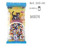 205-00 Hama  Beads MIDI 6000x Piezas, MIX 10 colores, 10 colours MIX