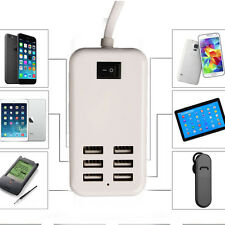 USB 6 Ports Home Travel AC Wall Charger Power Adapter For iPhone Samsung