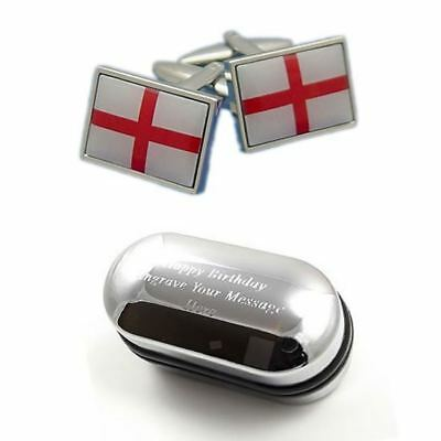 Pierre /& Miquelon Flag Cufflinks Personalised Engraved Keepsake Box St