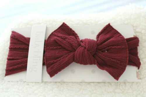 Baby Bling Bows Girls Classic Knot Headbands Trimmed Soft Elastic Headpiece NEW