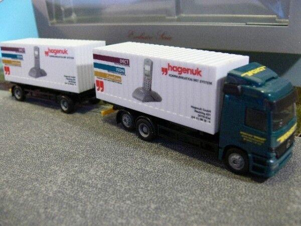 1 87 Herpa MB Actros Voigt Hagenuk Cargobox Hängerzug 238533