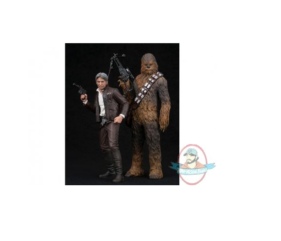 Star Wars 1 10 Han Solo & Chewbacca Ep VII ArtFX Statue Kotobukiya