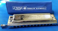 Hering Seductora 79//32 Octave Harmonica C Sealed Wood Comb MADE IN BRAZIL