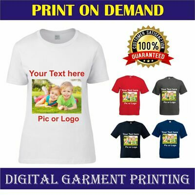 Personalised Ladies T Shirts Custom Print Your Text T Shirt Sizes 8-22