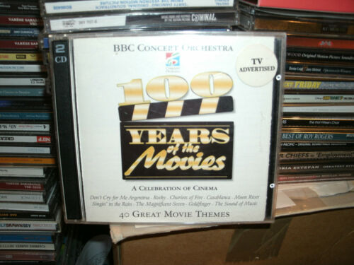1 of 1 - BBC Concert Orchestra - 100 Years Of The Movies (CD 1996) DOUBLE CD