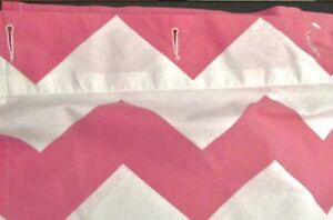 Image Is Loading POTTERY BARN KIDS PINK CHEVRON SHOWER CURTAIN MEASURING