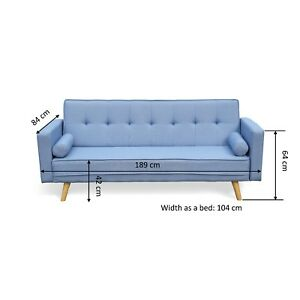 Image Is Loading Cherry Tree Furniture Nora 3 Seater Fabric Sofa