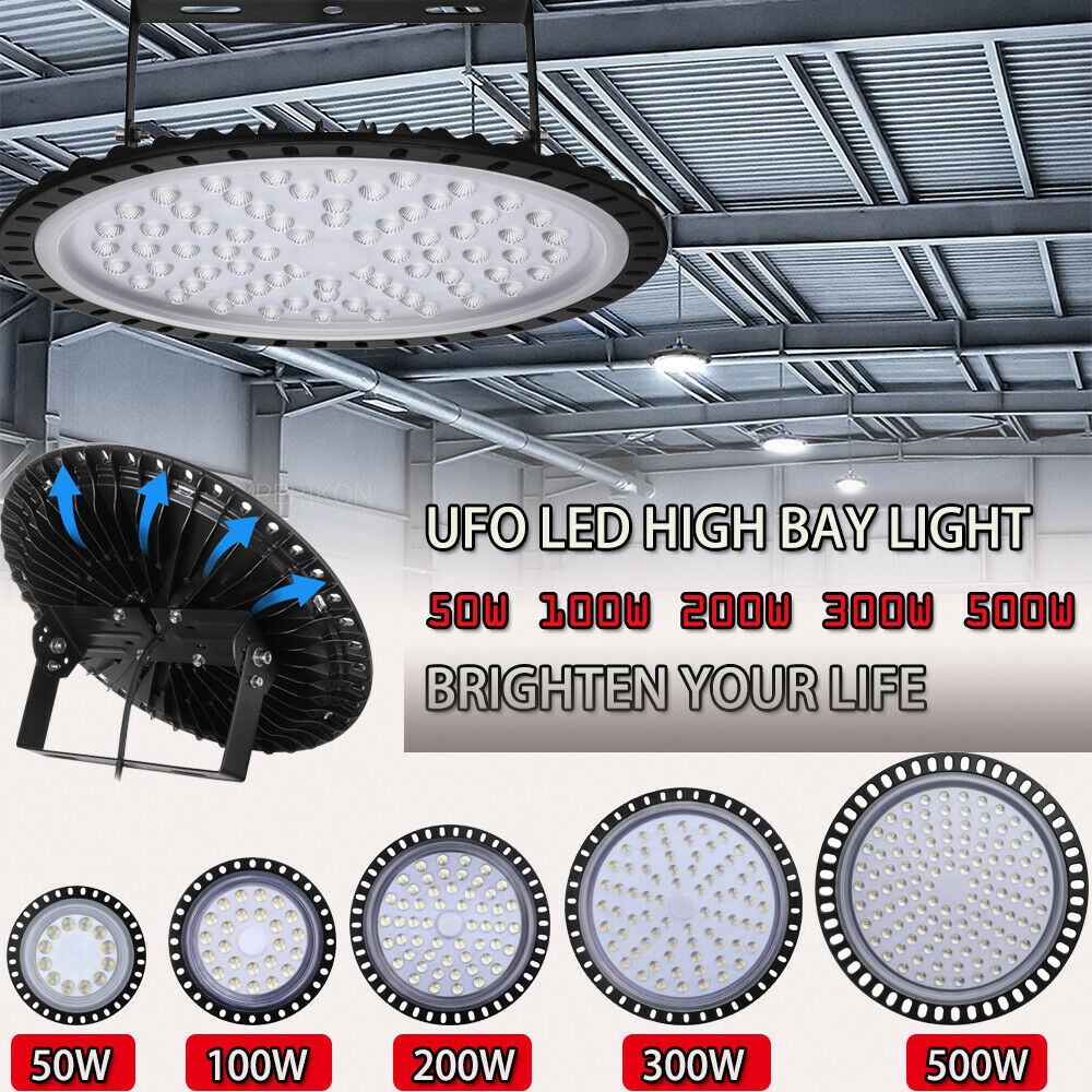 LED High Bay Light 50W 500W Factory Warehouse Industry Shop Led Ceiling Light