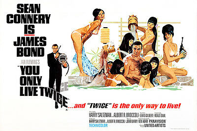 Posters USA 007 You Only Live Twice Bond Movie Poster Glossy Finish MOV189