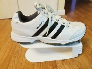 Details about Adidas Men's University white Leather Lace Up Golf Shoes Size 8.5