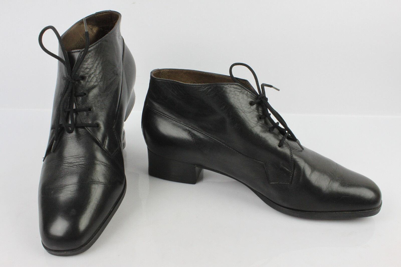 VINTAGE Bottines Stiefel à Lacets PETER 5 KAISER Cuir Noir UK 5 PETER / FR 37,5 / 38 TTBE d7a40d