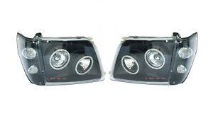 BLACK-HEAD-LIGHT-CORNER-LAMP-LED-ANGEL-EYES-suit-TOYOTA-PRADO-95-1996-2002