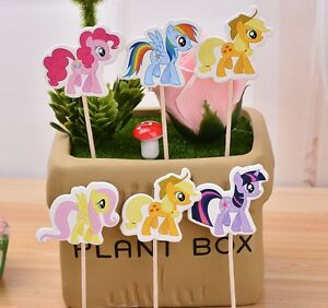 Image Is Loading 24 PCS MY LITTLE PONY CUPCAKE CAKE TOPPERS