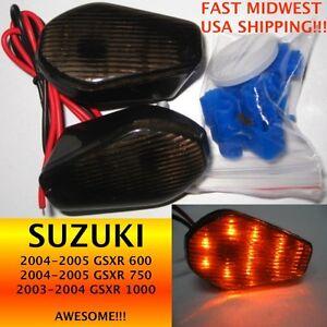 SUZUKI 03-04 GSXR 1000 04-05 GSXR 600 /& 750 Smoke LED Turn Signals TS-02S
