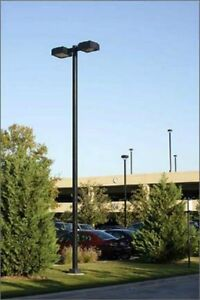 details about 22 39 foot parking lot light poles new free shipping. Black Bedroom Furniture Sets. Home Design Ideas