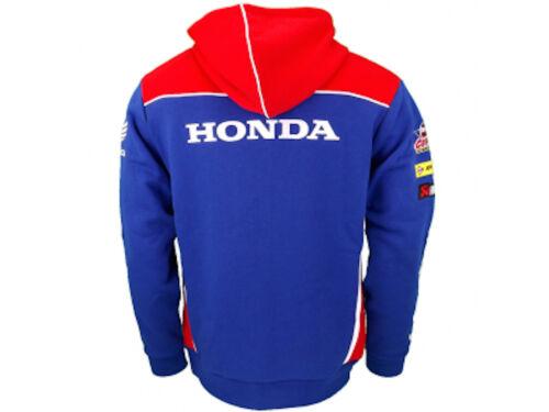 16HFL UFFICIALE Honda Endurance Racing Felpa Con Cappuccio E Cerniera Felpa