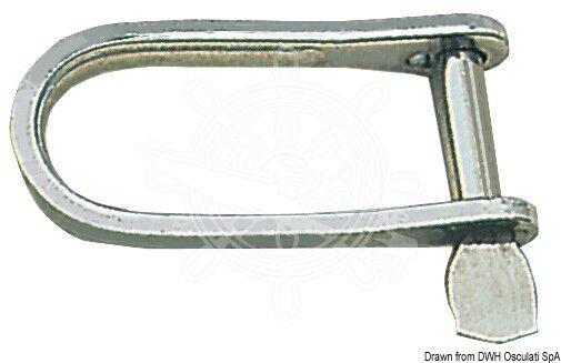 Osculati Schäkel Schnapp Stahlblech 6mm x10 Stk
