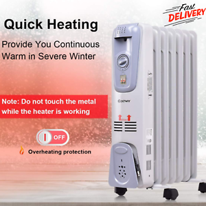8d9ded1f0de Image is loading Oil-Filled-Radiator-Heater-Portable-And-Electric-With-